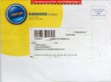 Blockbuster Online DVD sleeve