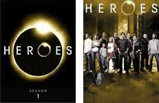 Heroes Season 1 and 2 DVD Covers